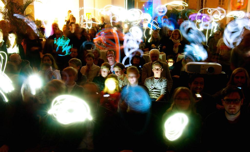 Lightpainting Events: Publikums Lightpainting