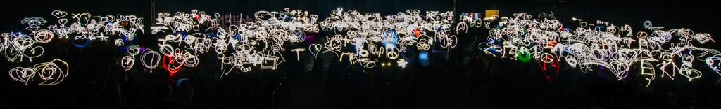 rp15 Light Painting Weltrekord auf der republica in Berlin